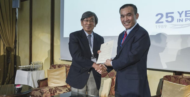Signing MOU Singapore
