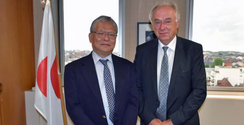 Pavel Kabat and Consul General of Japan